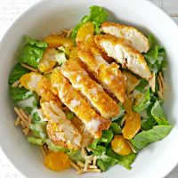 Chicken Oriental Salad for Two Recipe - serves 2