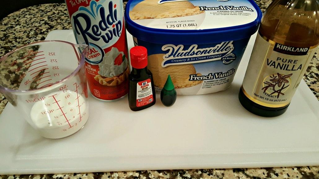 Shamrock Shake Copycat for Two ingredients
