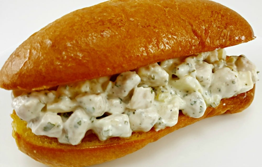Swiss Cheese Chicken Salad Sandwiches - love this!