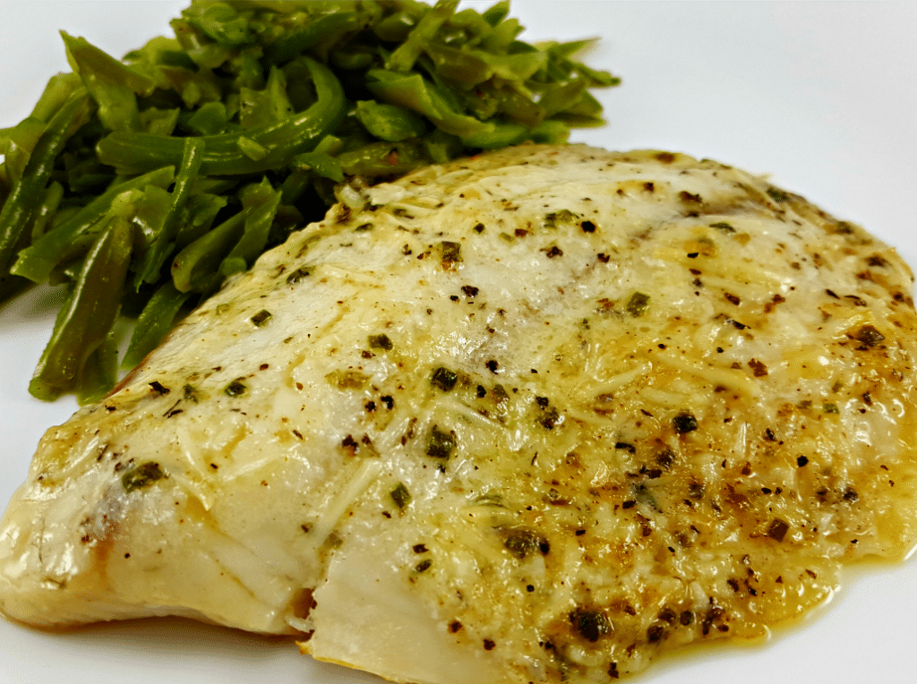 Broiled Tilapia Parmesan for Two, yum!