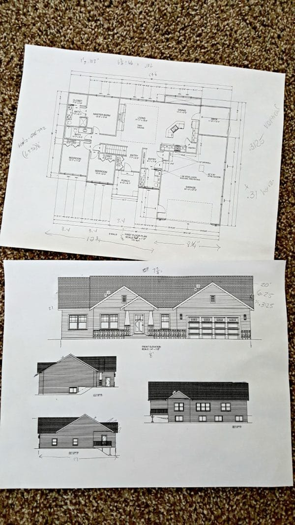 original house floor plans and elevation pages