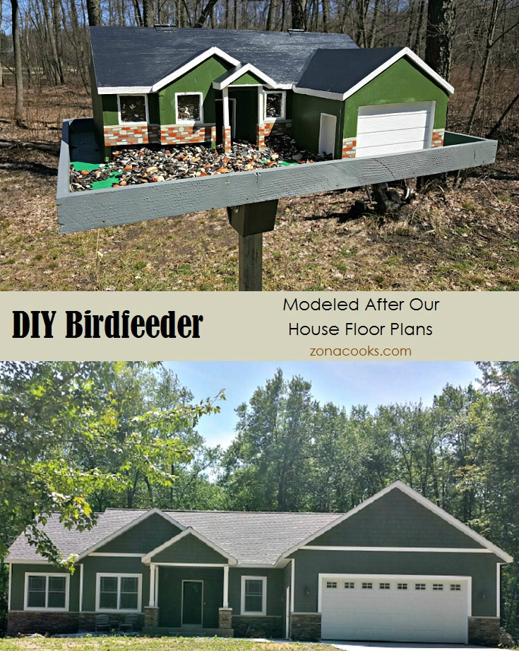 DIY Bird feeder Modeled After Our House Floorplans - zonacooks.com