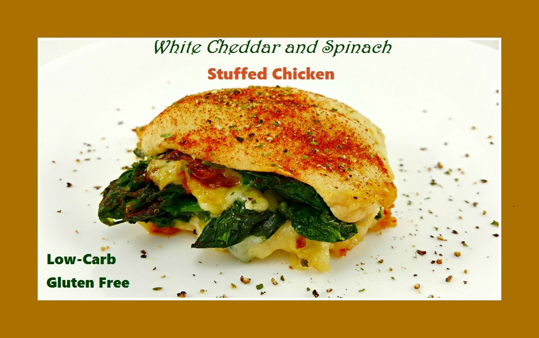White Cheddar and Spinach Stuffed Chicken, yum!