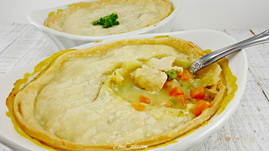 Chicken Pot Pie for Two - easy and delicious!