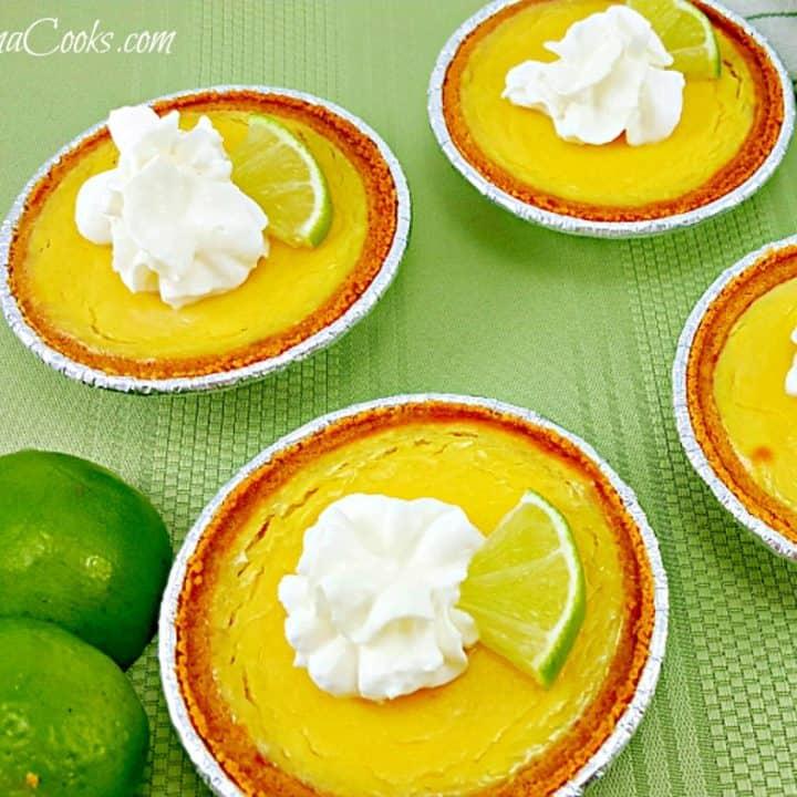 Individual Key Lime Pies - makes 4