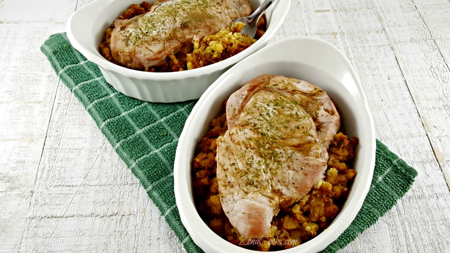 Easy Pork Over Stuffing Recipe For Two