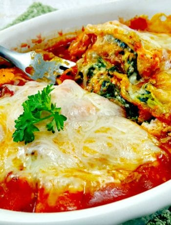 Grilled Mexican Seasoned Chicken and Spinach Individual Lasagna - romantic dinner for two