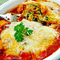 Grilled Mexican Seasoned Chicken and Spinach Individual Lasagna