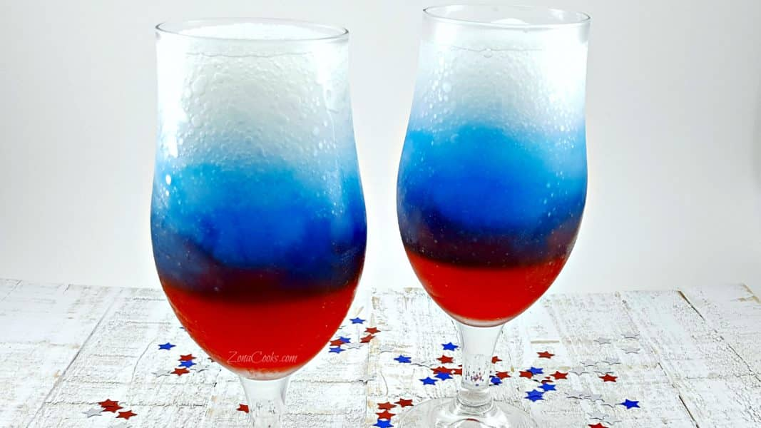 Red, White and Blue Rum Slushies