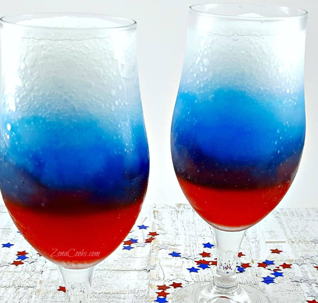 Red, White And Blue Rum Slush Recipe For Two • Zona Cooks