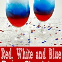 Red, White and Blue Rum Slush for Two
