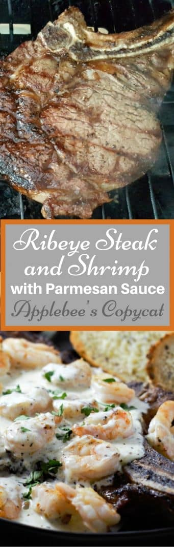 Ribeye Steak And Shrimp With Parmesan Sauce Recipe For Two