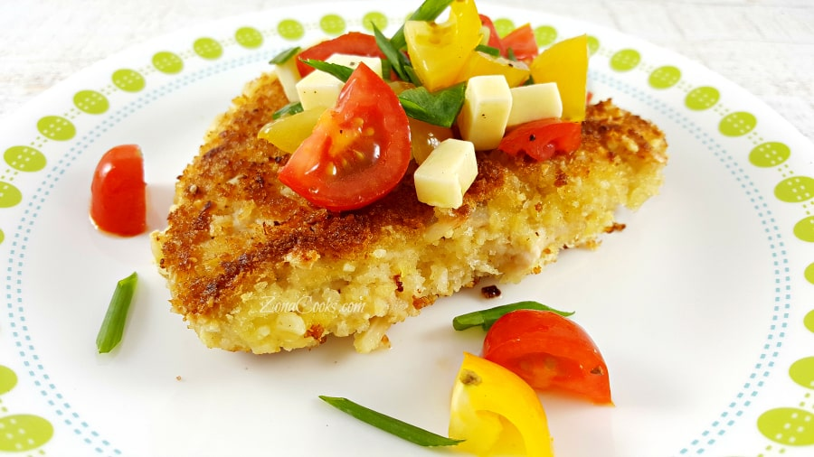 Almond Crusted Chicken with Tomato Salad for Two - romantic dinner for two