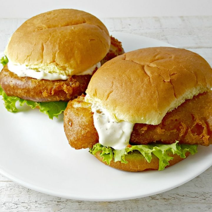 Beer Battered Fish Sandwiches for Two - serves 2