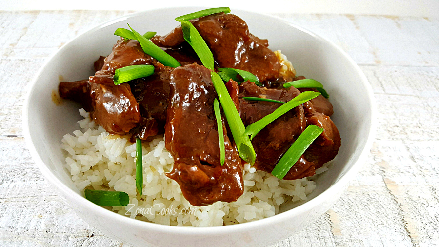 Crockpot Mongolian Beef for Two - easy romantic dinner for two
