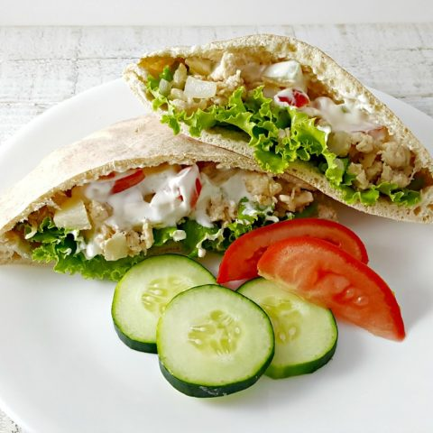 Gyro Style Pitas for Two - serves 2