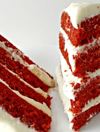 Red Velvet Cake and Whipped Cream Cheese Frosting