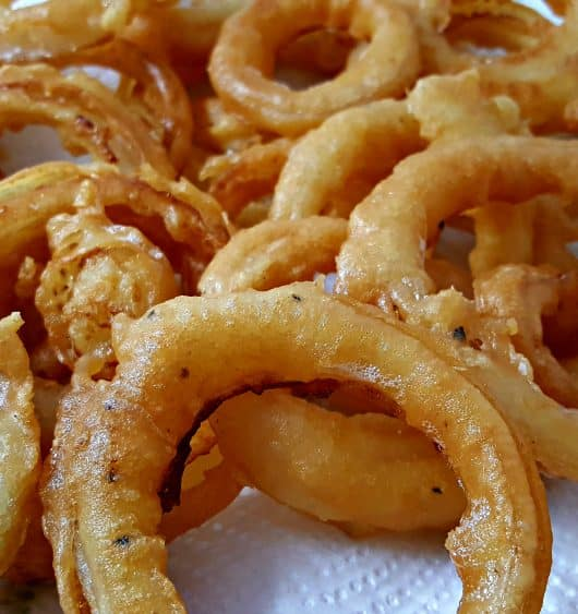 Beer Battered Onion Rings Small Batch Recipe - crispy golden brown sweet onions!