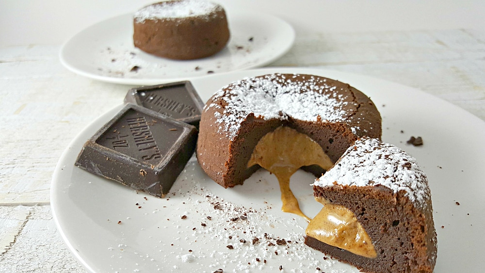 Chocolate Peanut Butter Lava Cakes Recipe for Two, easy and delicious!