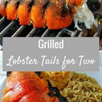 Grilled Lobster Tails Recipe for Two - A lobster lover's delight, these succulent grilled lobster tails are super quick and easy. Dip the flavorful meat into the rich buttery sauce. Lobster can be expensive but we spent about a quarter of what this would cost at a restaurant and felt like we were eating like kings. This recipe is a true taste of seafood at its finest. Sometimes you just need to treat yourselves with the good stuff. Romantic dinner for date night.