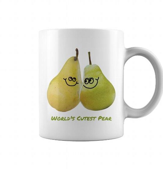 World's Cutest Pear Coffee Mug - are you the world's cutest pear or know someone who is? This coffee mug makes a great gift!