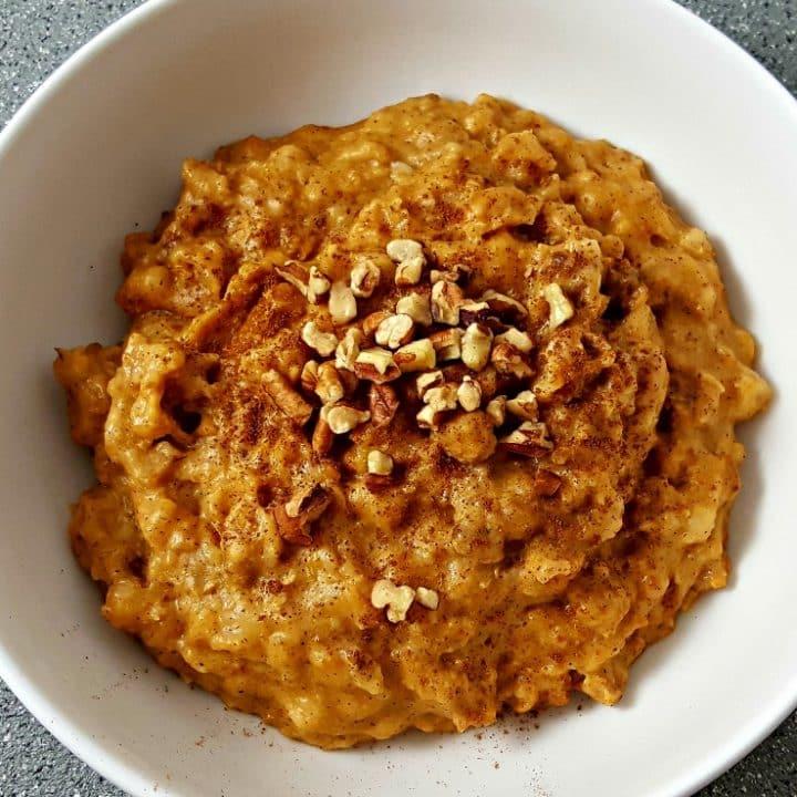 Crockpot Pumpkin Oatmeal Recipe - serves 2