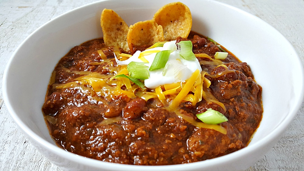 Easy Crockpot Chili Recipe for Two - slow cooker or stove top!