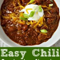 Easy Crockpot Chili Recipe for Two