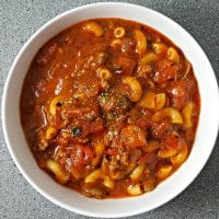 Easy One Pot American Goulash Recipe for two - small batch