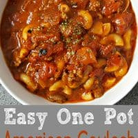 Easy One Pot American Goulash Recipe for two