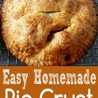 Homemade Pie Crust Recipe Single or Double for Two