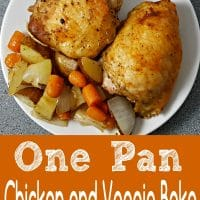 One Pan Roasted Chicken and Veggies for two