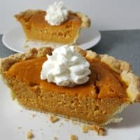 Pumpkin Pie and Homemade Crust