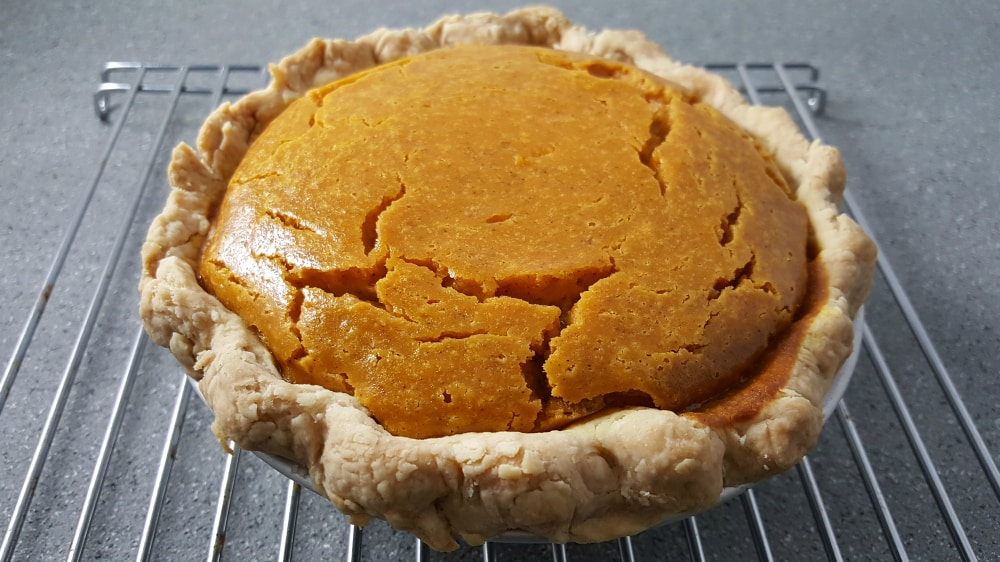 Pumpkin Pie for two recipe small batch - cool on a wire rack