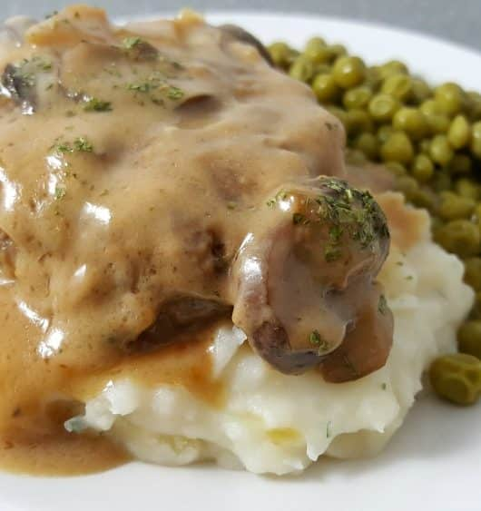Salisbury Steak with Mushroom Gravy Recipe for Two - one pan, ready in 30 minutes!