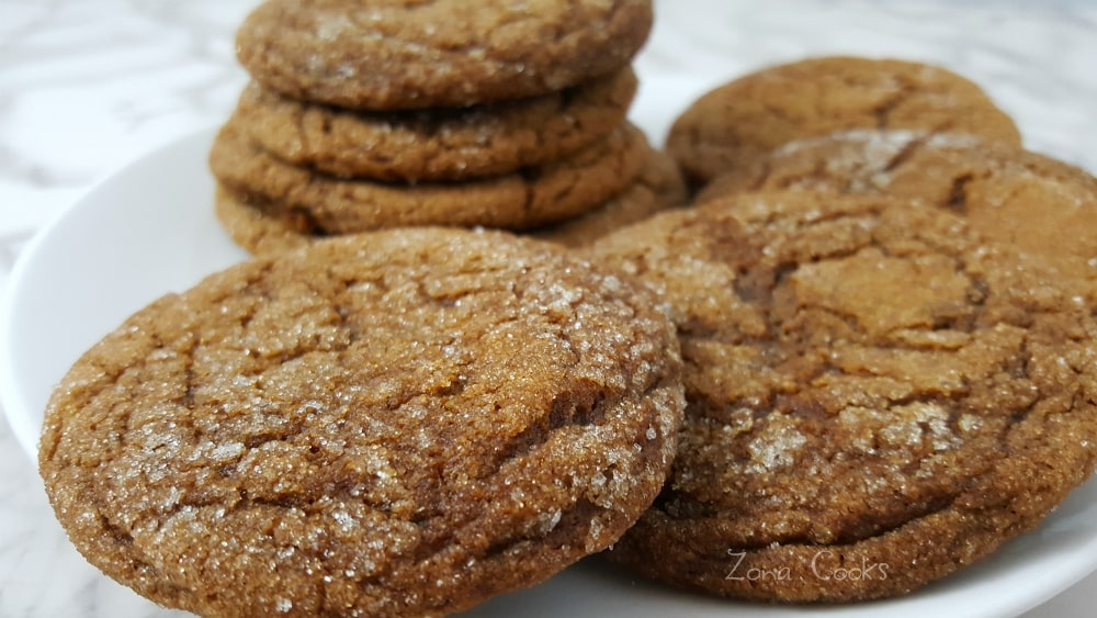 Soft Gingerbread Molasses Cookies