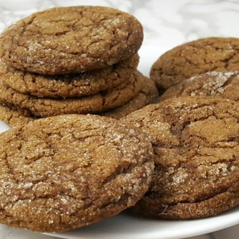Soft Gingerbread Molasses Cookies Recipe - great for 2 to 4 people