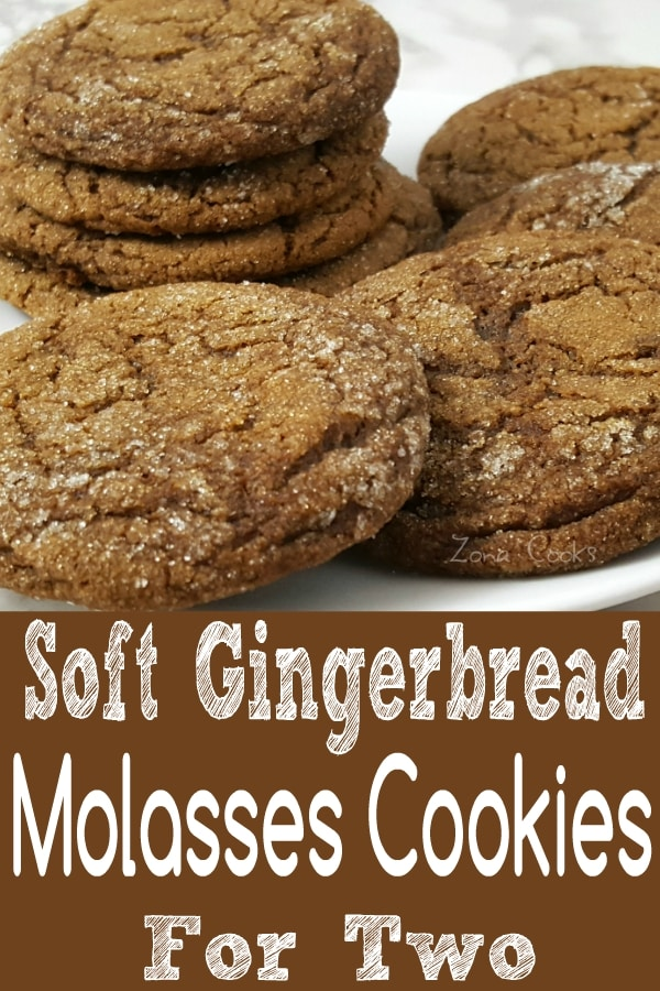 Soft Gingerbread Molasses Cookies Recipe for Two