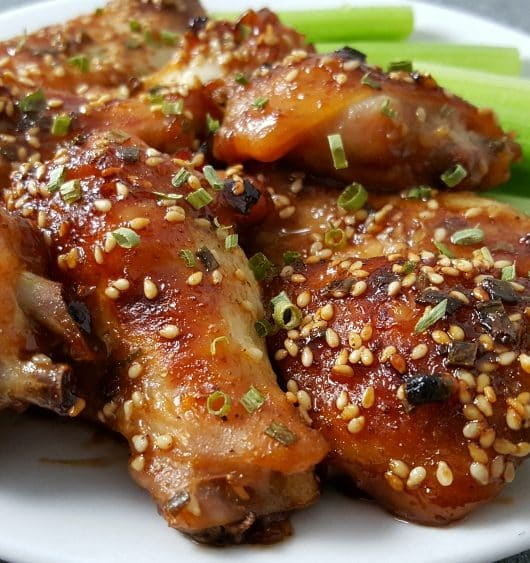 Baked Asian Wings Recipe - perfect appetizer, lunch, or dinner