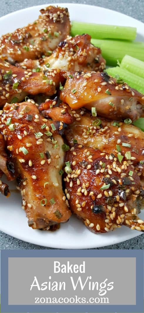 Baked Asian Wings Recipe Zona Cooks