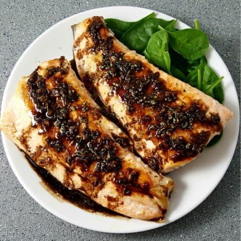 Balsamic Glazed Salmon Recipe - serves 2