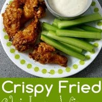Crispy Fried Chicken Wings Recipe for Two