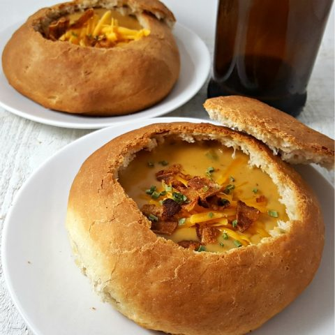 Easy Homemade Bread Bowls Recipe - easy to make for soups and dips