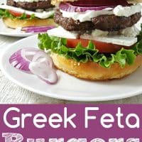 Greek Feta Burger Recipe for Two