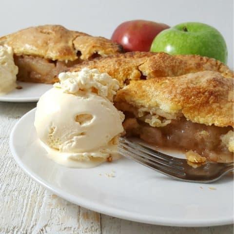 Homemade Apple Pie Recipe - serves 2