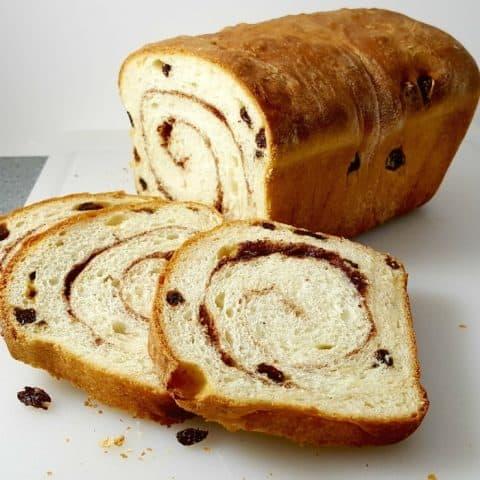Homemade Cinnamon Swirl Raisin Bread Recipe - approximately 16 slices