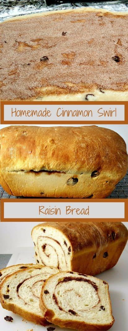 Homemade Cinnamon Swirl Raisin Bread Recipe Zona Cooks