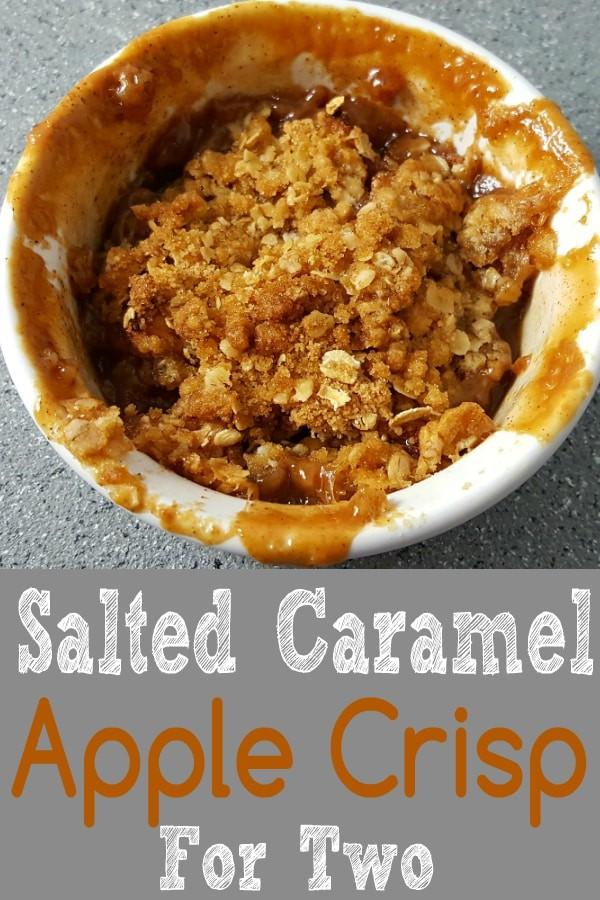 Salted Caramel Apple Crisp Recipe for Two