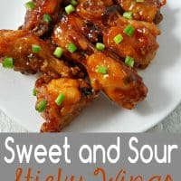 Sweet and Sour Sticky Wings Recipe for Two