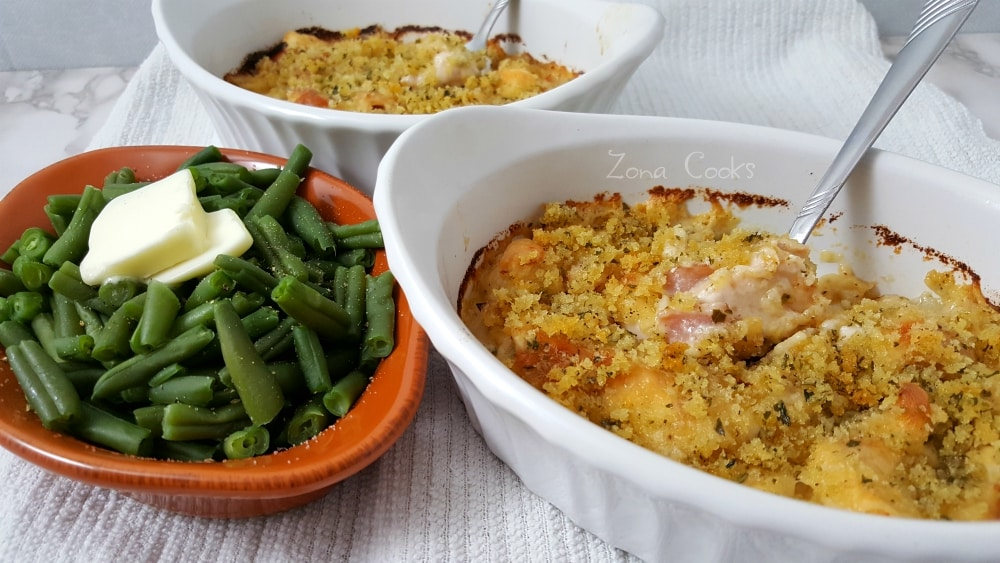 Chicken Cordon Bleu Casserole Low-Carb Recipe - perfect for date night!